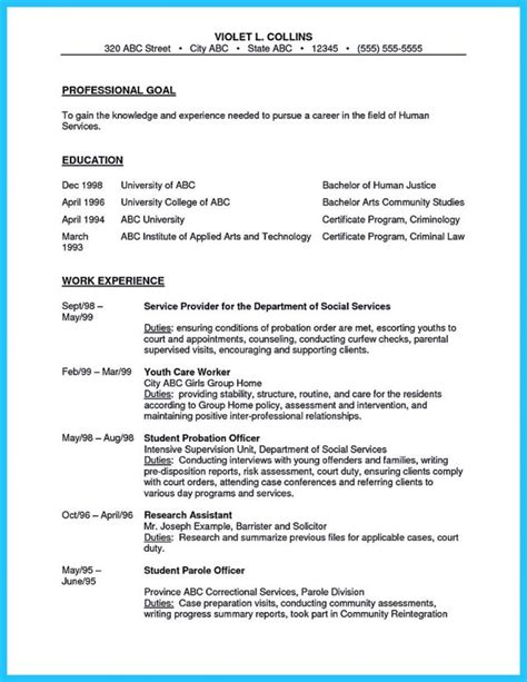 correctional officer resume sle juvenile probation officer resume exles hotel security