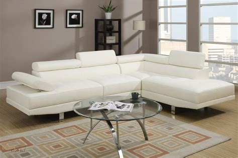 Leather White Sectional by White Faux Leather Adjustable Sectional Sofa