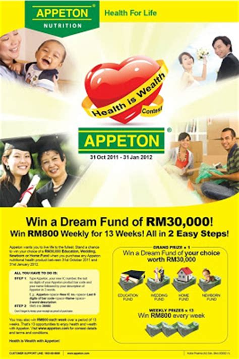 Appeton Again appeton quot health is wealth quot contest malaysia and offline contest portal
