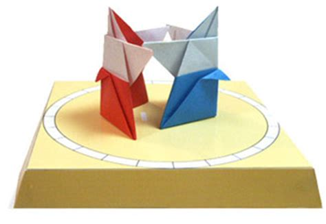 How To Make A Paper Sumo Wrestler - origami sumo