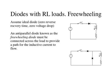 freewheeling diode zener freewheeling diode explanation 28 images ppt diodes with rl loads freewheeling powerpoint