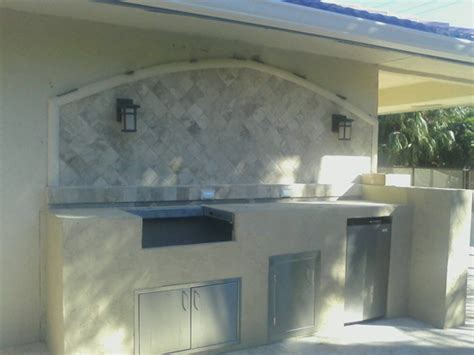 outdoor kitchen backsplash photos custom outdoor kitchen with granite counter and marble