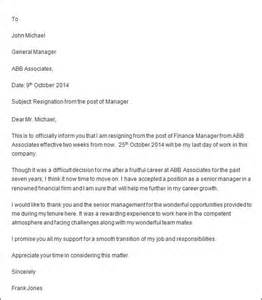 Professional Resignation Letter In Pdf Professional Resignation Letter Sle 4 Documents In Pdf Word
