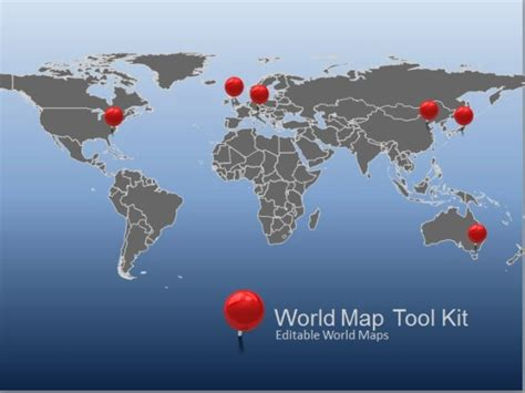 Animated World Map Toolkit For Powerpoint Microsoft Powerpoint Templates World Map