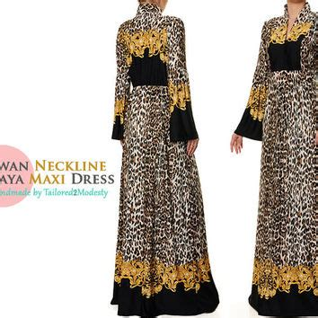 Gamis Abaya Maxi Leopard Bergo best jersey maxi dress products on wanelo