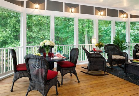 Design For Screened Porch Furniture Ideas Screened Porch Raleigh Home Improvement Contractor Raleigh