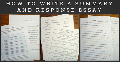 summary and response essay sles composition classroom summary and response writing