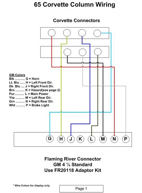 flaming river tilt column wiring question corvetteforum