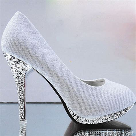 gold high heels green white wedding shoes bridal shoes