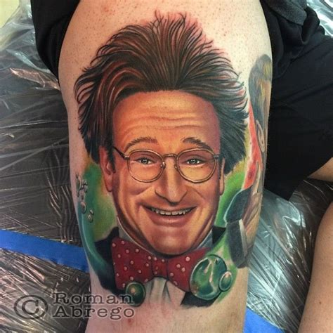 robin williams tattoo portrait robin williams flubber character