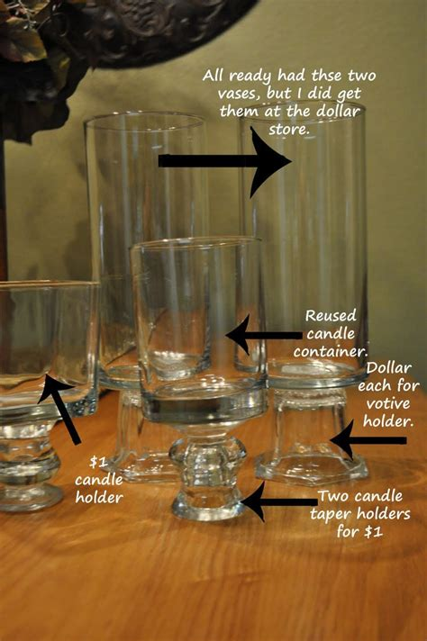 Candle Holder Store For The Bar Dollar Store Vases And Candle Sticks