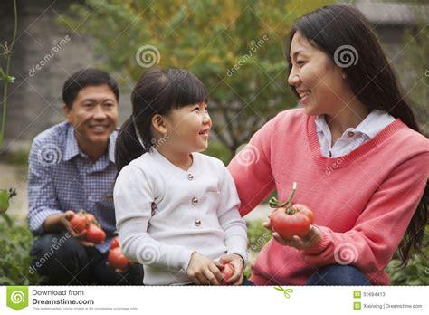 happy family garden happy family in garden stock photos image 31694413