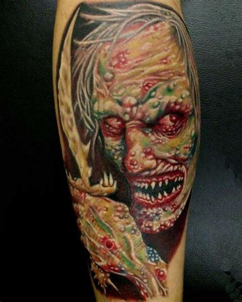 Zombie Tattoo Gallery | scary tattoos tattoo art gallery