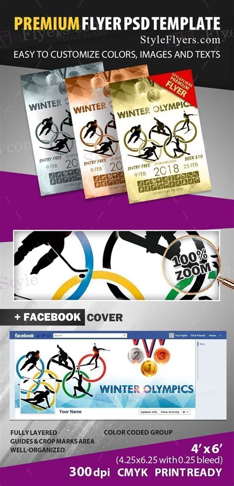 Winter Olympics 2018 Psd Flyer Template 22864 Styleflyers Ad Template 2018