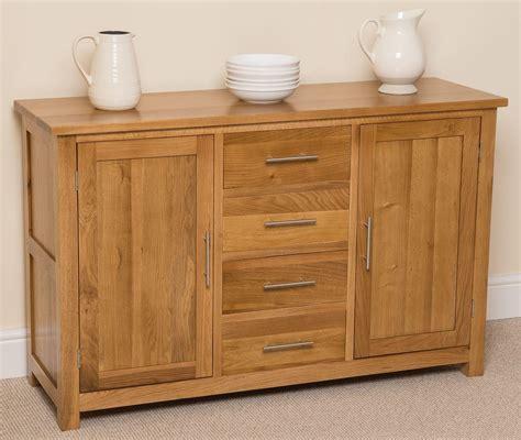 oslo solid large oak sideboard modern furniture direct