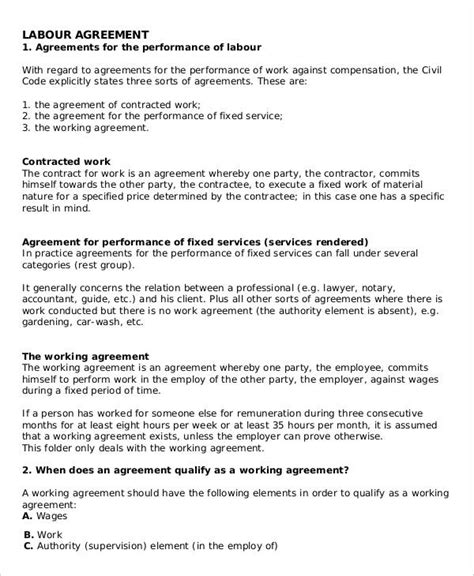 labour contract template labour contract templates 5 free word pdf format