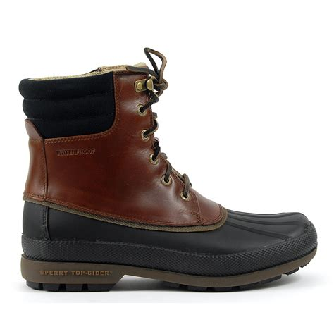 sperry top sider cold bay boot black amaretto leather