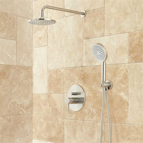 Bathroom Shower Systems Lattimore Shower System With Rainfall Shower Shower Shower Systems And Faucets