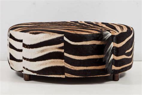 round zebra ottoman ottoman zebra for sale at 1stdibs