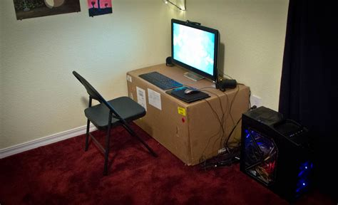 desk in a box a cardboard box can be a a desk too oh my goodness not