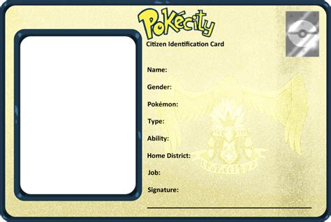 blank id card template blank templates on pokecity deviantart