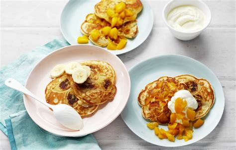 easy fruit pancakes better homes and gardens