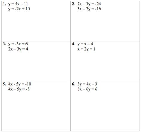 System Of Equations Worksheets by Solving Systems Of Equations 2