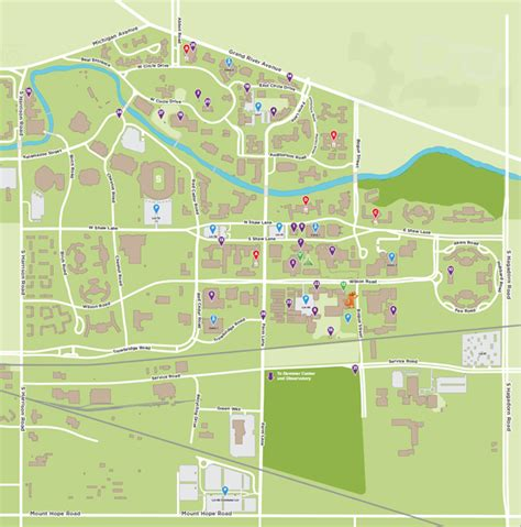 tech cus map msu cus map interactive maps map usa images free