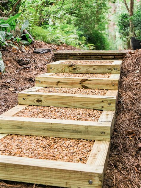 steps with landscape timbers wooden steps diy how to build outdoor wood steps how tos diy