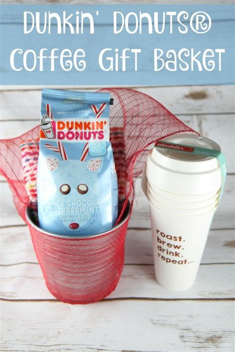 How Much Is On My Dunkin Donuts Gift Card - dunkin donuts 174 coffee gift basket idea bargainbriana