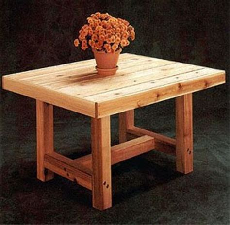 patio table  woodworking project plans