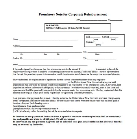 promissory note 26 download free documents in pdf word