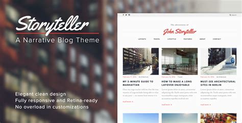 themes of storytelling storyteller a narrative wordpress blog theme by