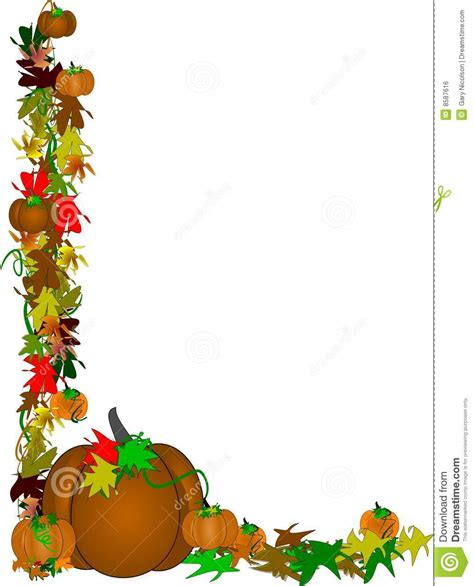 Brown Pumpkin Border Design Royalty Free Stock Image