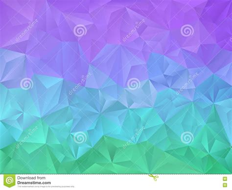 green and purple l shade vector irregular polygon background with a triangle