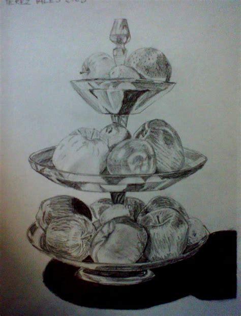 imagenes de bodegones a lapiz dibujo a lapiz frutero con frutas imagui