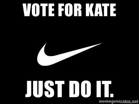 Nike Meme - vote for kate just do it nike swoosh meme generator