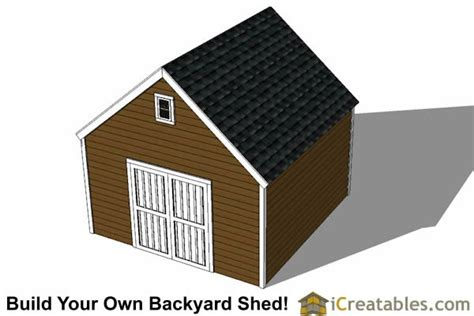 14x14 Shed Plans 14x14 garage shed plans icreatables
