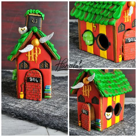 harry potter houses haniela s harry potter gingerbread house