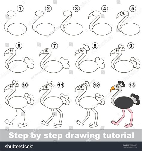 how to make doodle tutorial drawing tutorial children how draw stock vector