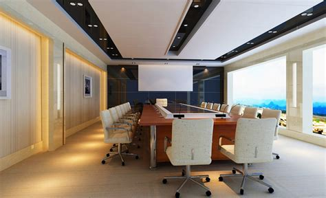 ceiling design modern conference room 3d