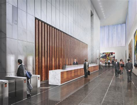Slatted Room Divider The Evolving Design Of 1wtc Freedom Tower Lobbies