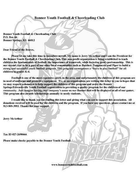 Fundraising Letter For Baseball Team best photos of youth sports donation request letter