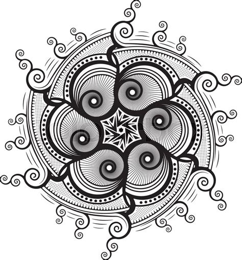 round pattern tattoo stock vector of round unusual asymmetrical decorative