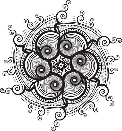 mandala tattoo vector stock vector of round unusual asymmetrical decorative