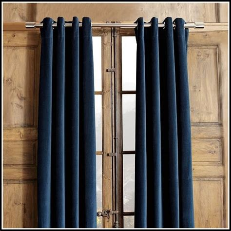 navy blue grommet curtains navy grommet top blackout curtains curtains home