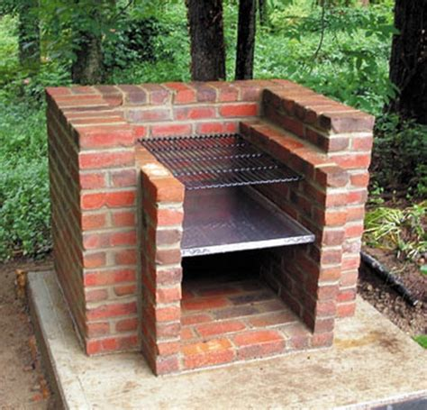 easy diy pit with grill how to build a brick barbecue for your backyard home