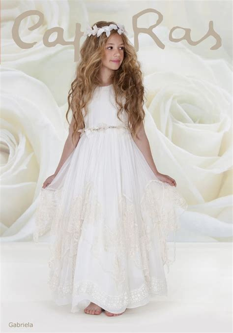 first comunion on pinterest baptisms vestidos and first communion colecci 243 n comuni 243 n ni 241 as cap ras quot gabriela quot 2014 kids