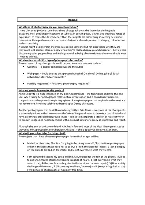 Photography Proposal Creekviewsenior Project Proposal Form 2012 13student Name Please Print Photography Rfp Template