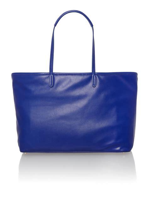 Bag Tote Navy dkny metal letters navy large tote bag in blue navy lyst